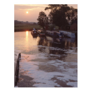 Sunset on the River Soar Post Card