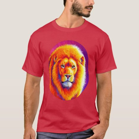 Sunset on the Savanna Colorful African Lion Shirt