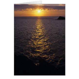 Sunset on the sea card