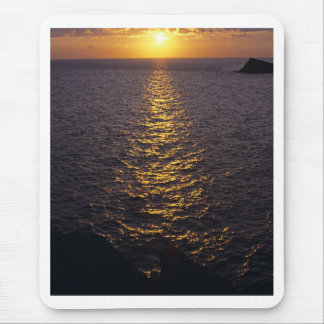 Sunset on the sea mouse pad