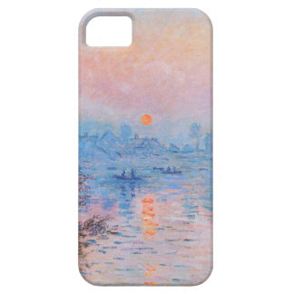 Sunset on the Seine at Lavacourt(Winter Effect) iPhone SE/5/5s Case