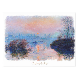 Sunset on the Seine by Claude Monet Postcard