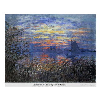 Sunset on the Seine by Claude Monet Print
