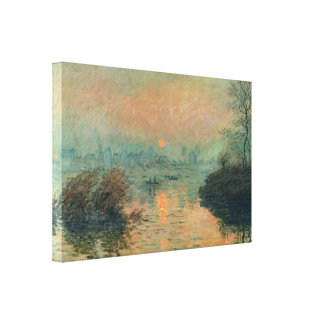 Sunset on the Seine Winter Effect - Claude Monet Canvas Print