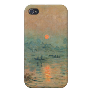 Sunset on the Seine Winter Effect - Claude Monet Cover For iPhone 4