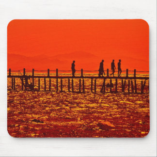 Sunset on the shores of the Red Sea Mouse Pad