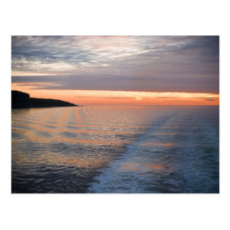 Sunset on the Sound of Mull Postcard