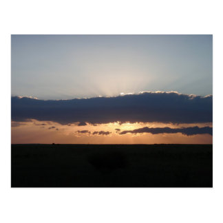 Sunset On The Steppes Postcard
