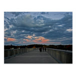 Sunset on the Walkway Post Card