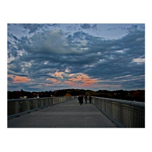 Sunset on the Walkway Postcard