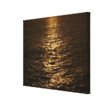 Sunset on the Water Abstract Ocean Photography Canvas Print