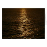 Sunset on the Water Abstract Ocean Photography Card