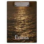Sunset on the Water Abstract Ocean Photography Clipboard