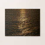 Sunset on the Water Abstract Ocean Photography Jigsaw Puzzle