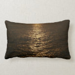Sunset on the Water Abstract Ocean Photography Lumbar Pillow