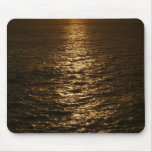 Sunset on the Water Abstract Ocean Photography Mouse Pad
