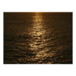 Sunset on the Water Abstract Ocean Photography Photo Print