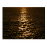 Sunset on the Water Abstract Ocean Photography Postcard