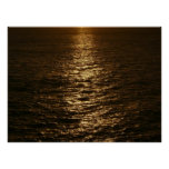 Sunset on the Water Abstract Ocean Photography Poster