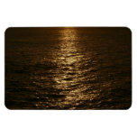 Sunset on the Water Abstract Ocean Photography Rectangular Photo Magnet