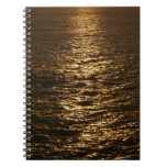 Sunset on the Water Abstract Ocean Photography Spiral Notebook