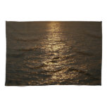 Sunset on the Water Abstract Ocean Photography Towel