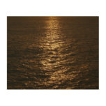 Sunset on the Water Abstract Ocean Photography Wood Wall Art