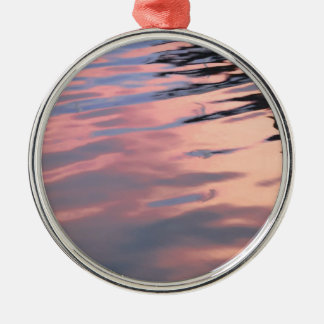 Sunset on the water metal ornament