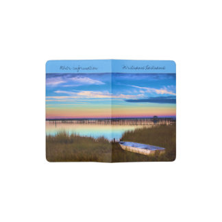 Sunset on the water pocket moleskine notebook