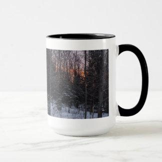 Sunset on Trees  Winter Scene Mug