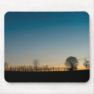 Sunset on vineyard mouse pad