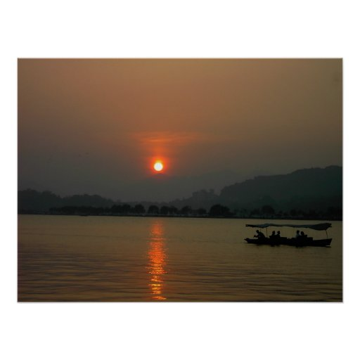 Sunset on West Lake Posters