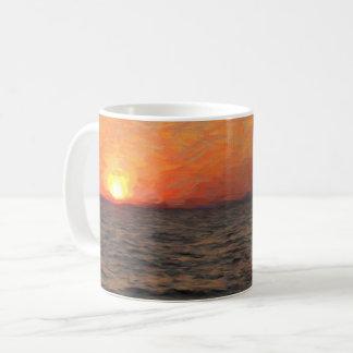 Sunset on Yellowstone Lake Coffee Mug