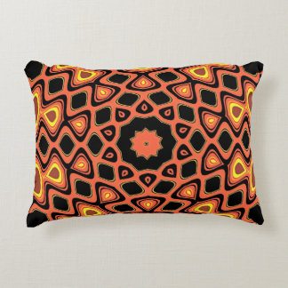 SUNSET ORANGE ABSTRACT ACCENT PILLOW