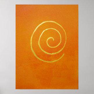 Sunset Orange Infinity Golden Spiral Philip Bowman Print