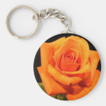 Sunset Orange Rose Key Chains