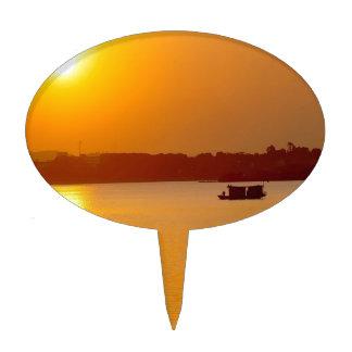 Sunset Orange Water Glow Cake Topper
