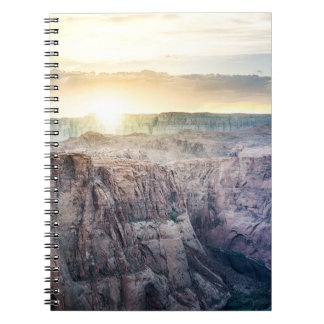 Sunset Over a Canyon Spiral Notebook