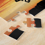 Sunset Over a Cow Weather Vane Jigsaw Puzzle