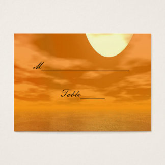 Sunset over A Dock Wedding Business Card