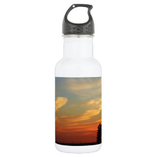 Sunset Over A Farm Water Bottle