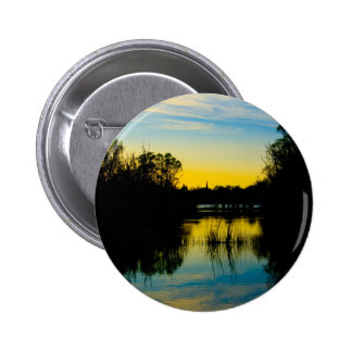 Sunset over a Lake Button