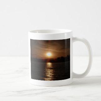 Sunset Over A Lake Coffee Mug