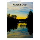 Sunset over a Lake Easter Card