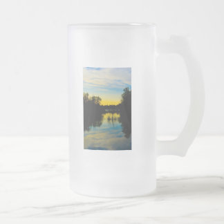 Sunset over a Lake Glass Frosted Glass Beer Mug