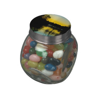 Sunset over a Lake Jelly Belly Candy Jar