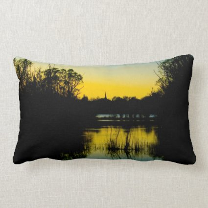Sunset over a Lake Pillows