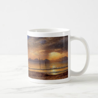 Sunset over a Mountain Lake - Albert Bierstadt Coffee Mug