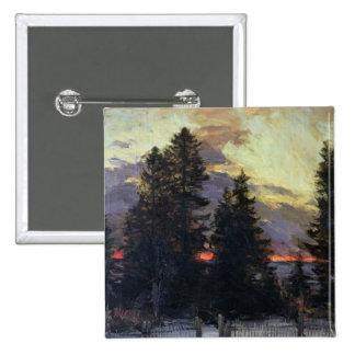 Sunset over a Winter Landscape, c.1902 Button