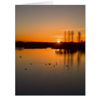 Sunset over Abberton Card